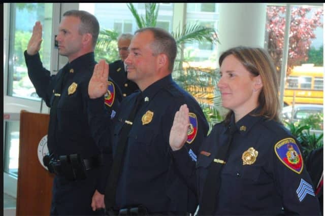 The Stamford Police Department has promoted Kevin Lynch, Christopher Petrizzi and Jennifer Lynch to sergeant.