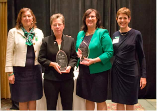 Pictured, from left, are Girl Scouts of Connecticut CEO Mary Barneby, Brig. Gen. Tammy Smith, Mary Galligan and Trish Bowen, Girl Scouts of Connecticut's board of directors president.