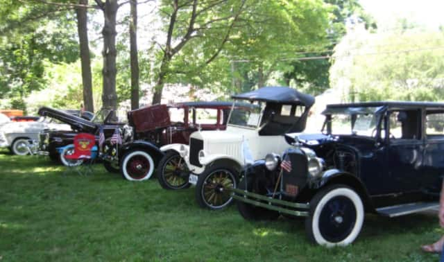 Several vintage cars made the scene for the 2015 car show to benefit the Shelton History Center.