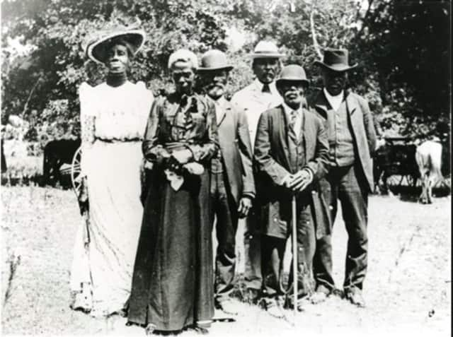 This photo is from a 1900 celebration of of Emancipation Day.