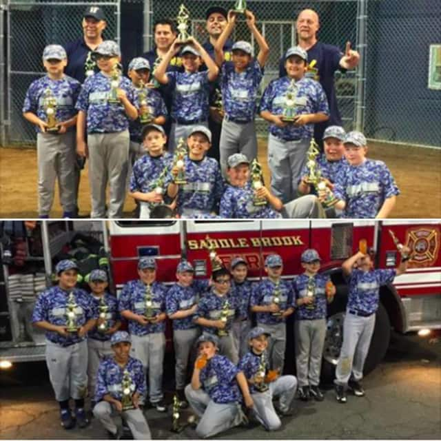 Saddle Brook Little League Engine 2 team won the SBLL's Minor League championship.