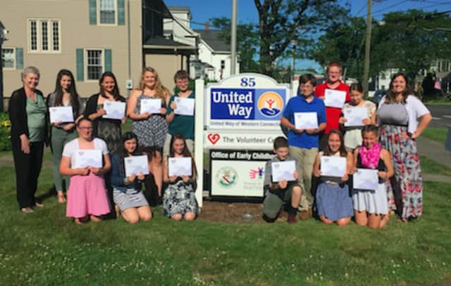 More than 20 local youths receive the President's Volunteer Service Award for their volunteer work.