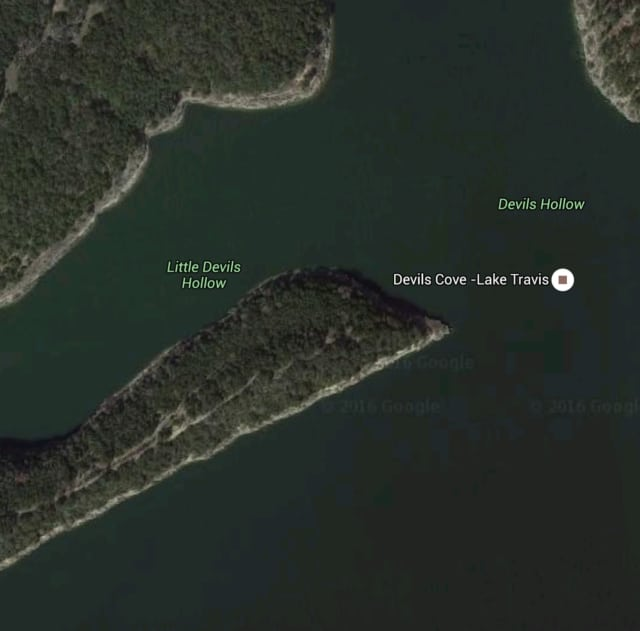 The Travis County Sheriff's Office in Texas said it was notified of a person missing from a party barge in the Devil's Hollow area of Lake Travis.