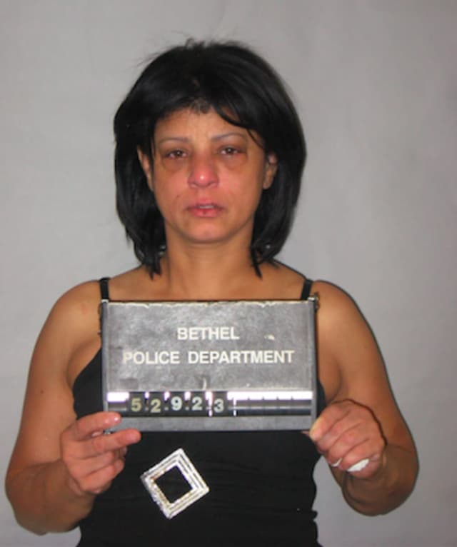 Maria Medina, 47, is facing charges of threatening, third-degree assault, criminal mischief and breach of peace. Bethel Police allege she swung a machete during a dispute.