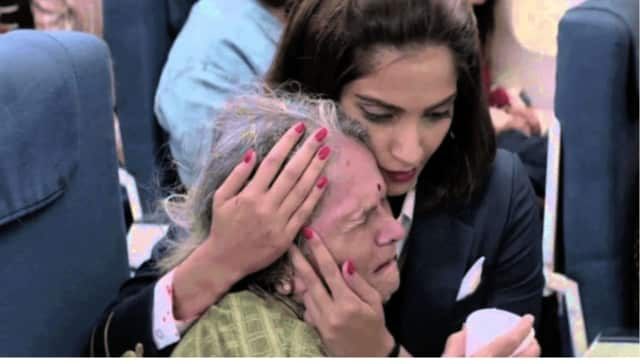 "A scene from the film ""Neerja."""
