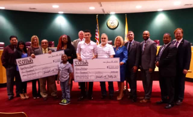 A pair of Passaic County residents were presented with college scholarship awards June 28.