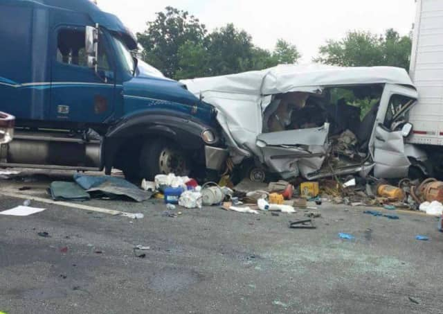 A 43-year-old man was killed and several others wounded in the crash that led to the hours-long closure of a stretch of I-84 in Orange County on Wednesday.