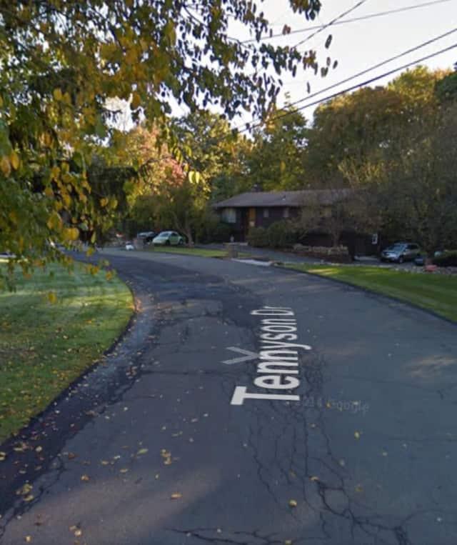 Tennyson Drive in Nanuet where the stabbing occurred.