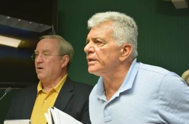 Armonk developer Michael Fareri abruptly left a meeting last week with the North Castle Planning Board.