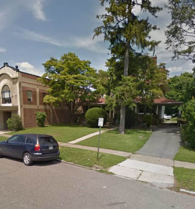 The home is located on Hamilton Avenue opposite City Hall in New Rochelle.