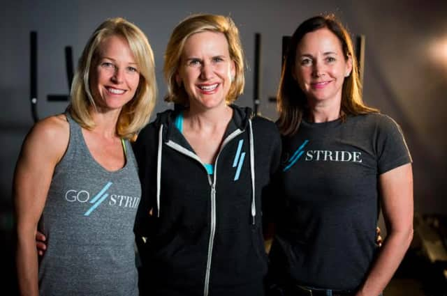 "Left to right are Jill Weiss, Jenny Klein, Janet DeFrino, the ""Three J's,"" who opened GOSTRIDE in Port Chester, the first boutique striding studio in North America."