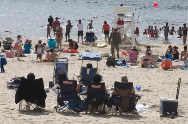 Beachgoers Beachgoers should be out in full force the next few days as temperatures will be around 90 degrees through the weekend.