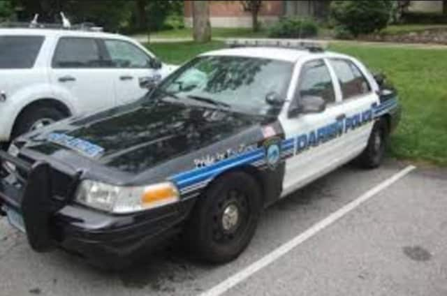 Darien Police are searching for license plates stolen from a vehicle.