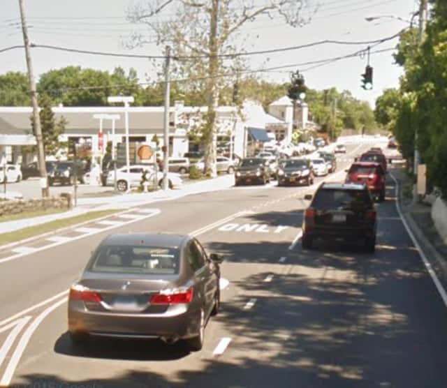 Route 1 (Boston Post Road) in Rye.