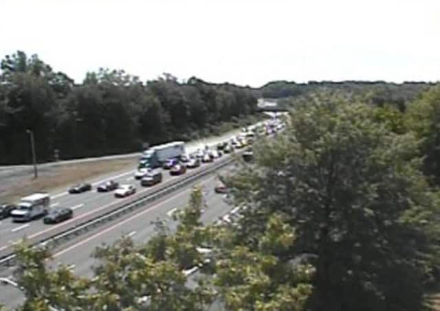 A look at delays on I-87 Sunday afternoon.