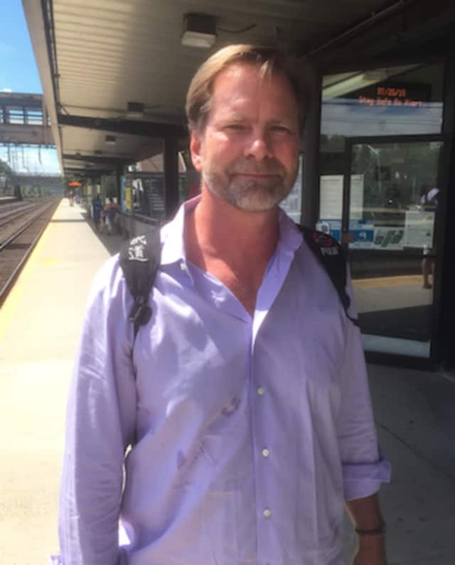 Over the summer, John Beaver said commuters will have no choice but to accept the train fare hike. He's pictured at the Noroton Heights train station.