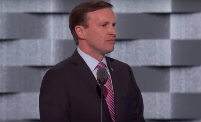 U.S. Sen. Chris Murphy speaks at the Democratic National Convention.