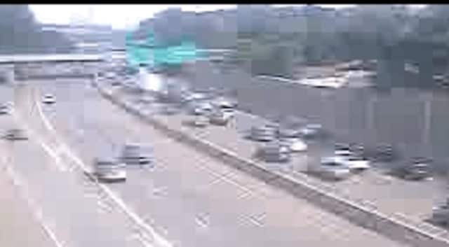 Heavy traffic on eastbound I-287 after the Friday crash.