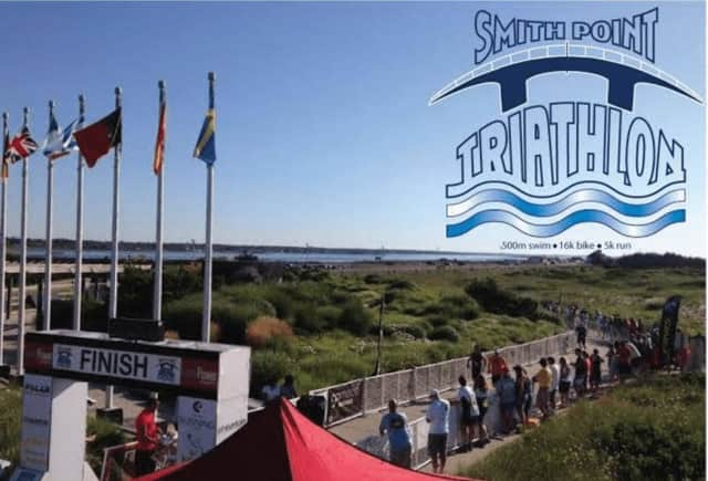 The Smith Point Sprint Triathlon in Suffolk County on Long Island.