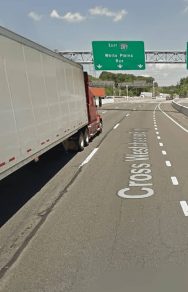 State police responded to reports of a motorist driving the wrong way on Interstate 287 on Monday.