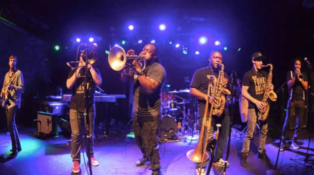 The Funky Dawgz Brass Band will be one of the headliners at the Rebirth Arts Festival, a two-day, free celebration of art, film and music in Easton this weekend.
