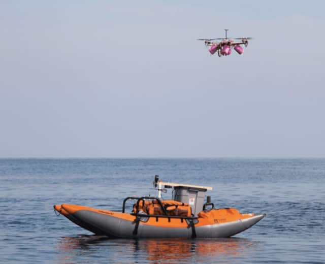 Whale researchers will demonstrate the new Snotbot drone at a free Westport Library presentation at Sherwood Island.