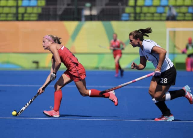 The U.S. women's field hockey team lost to Germany, 2-1, on Monday, and was eliminated from Olympic medal contention.