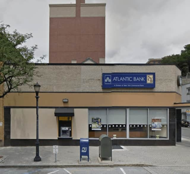The Atlantic Bank at Manor House Square in Yonkers was robbed Wednesday afternoon.
