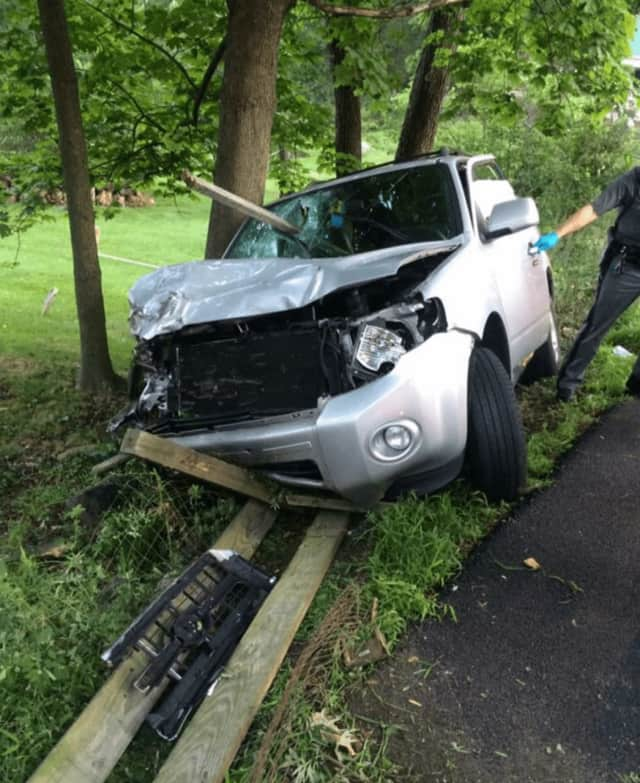 The crash occurred at Mount Airy Road West and Hollis Lane early Saturday.