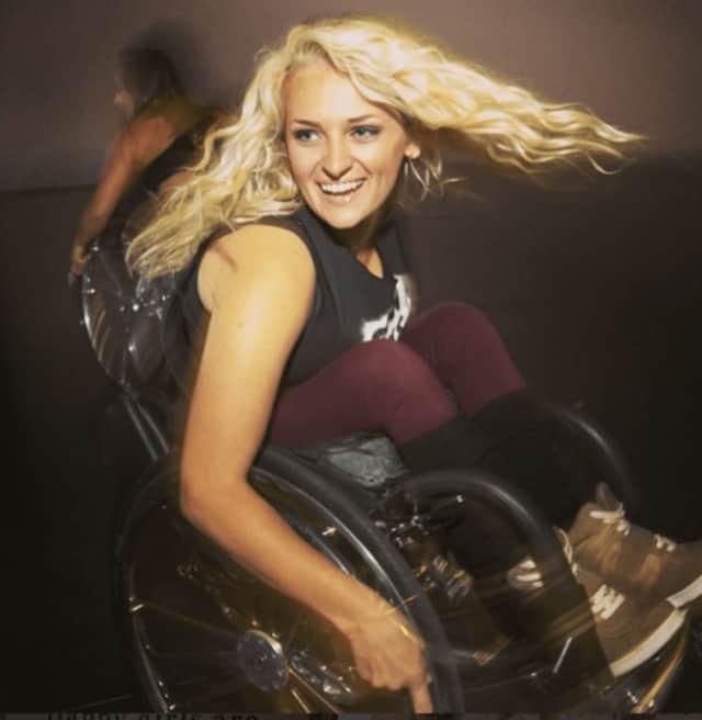 Ali Stroker of Ridgewood dances in her wheelchair.