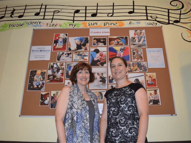 Wendy Bain and Performing Arts School Managing Director Becky Hinkle.