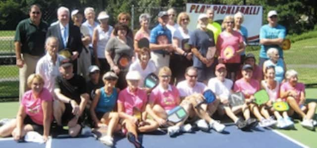Fairfield recently opened its new pickleball courts. See story for IDs.