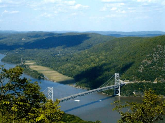 A Northern Westchester woman died after jumping off the side of Bear Mountain Bridge.