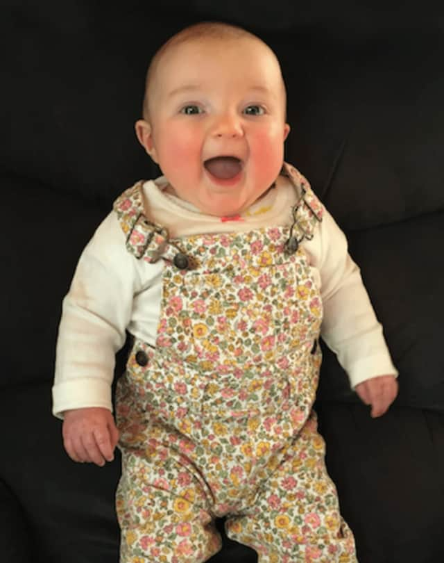 Bailey Alice Lennon, 11 months old, will be featured in the Newtown Labor Day Parade on Monday, September 5, as the most beautiful baby in Connecticut.