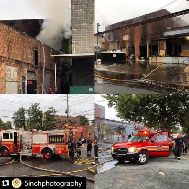 Mount Vernon firefighters have extinguished a warehouse fire that began on Thursday.