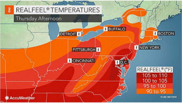 Red-hot temperatures and high humidity Thursday through Sunday will make it feel more like the dog days of summer.