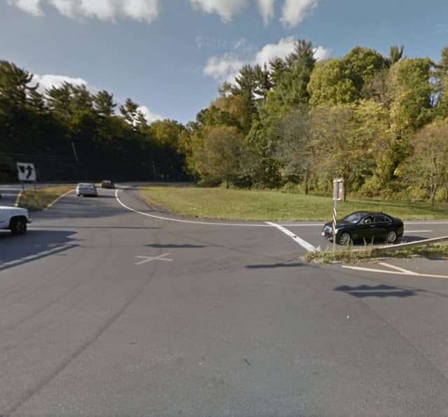 Route 22 at the intersection of Route 120 in Armonk.