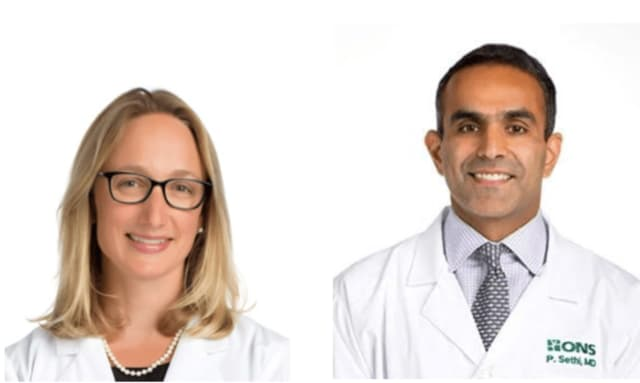 Dr. Katherine Vadasdi and Dr. Paul Sethi.