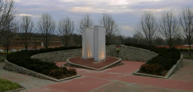 The 9/11 memorial in Leonia's Overpeck County Park.