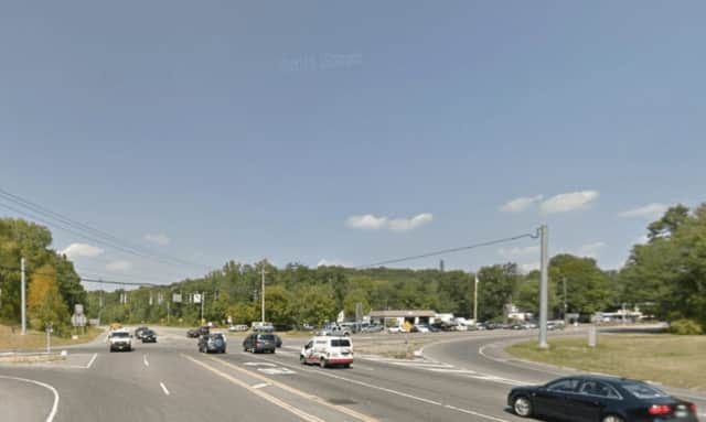 Whitehall Corners, the intersection of Routes 35 and 100, in Somers.