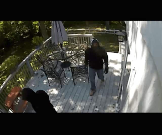 Suspects captured on a video security system Birchwood Avenue home. It was one of two New Canaan residences that were broken into Wednesday afternoon. No arrests have been made.