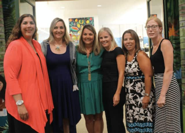 Wilton Library's 17th annual Ladies' Soirée Committee members are, from left, Suzanne Lishnoff, event chairperson, Michelle Shia, Carrie Preisano, Kathleen Zadourian, Jennifer Alesia and Amy Cooper.