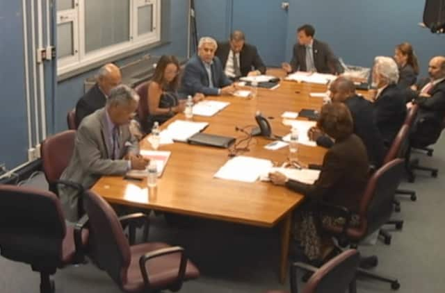 The New Rochelle City Council at Tuesday's meeting.