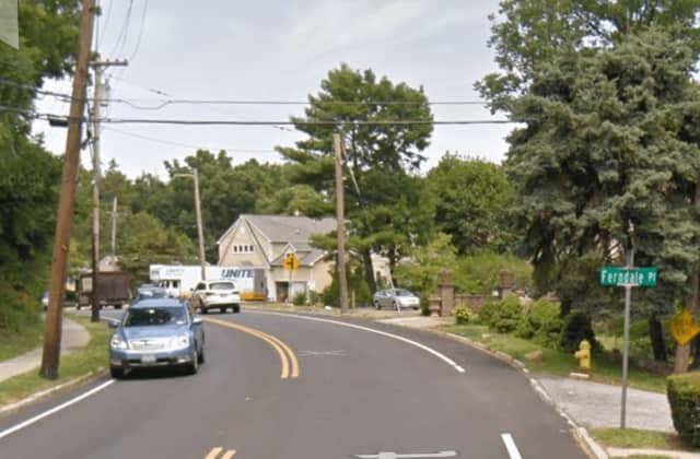 Town of Mamaroneck police and local firefighters were called to Weaver Street near Ferndale Place on a single-car crash on Monday.