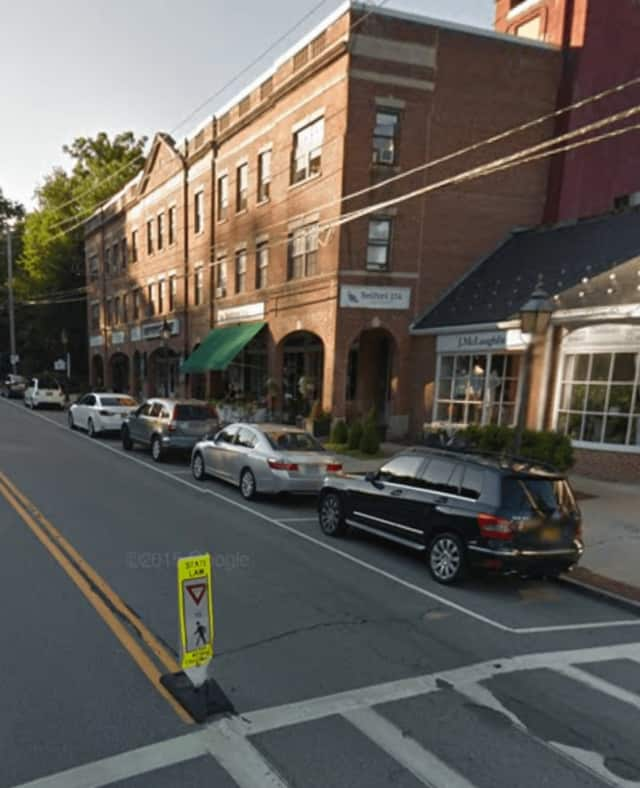 Route 22 in Bedford near the Bedford Playhouse. Parking enforcement officers downtown will no longer chalk tires to monitor overtime parking.
