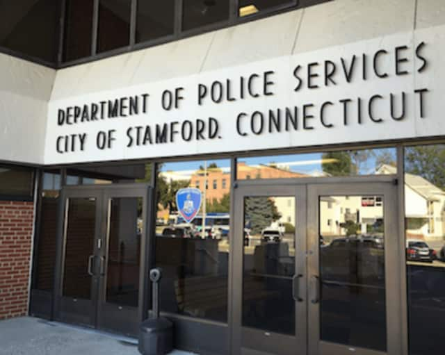 Stamford Police said they arrested a Florida woman on drug charges early Sunday after she hit another vehicle and drove away.