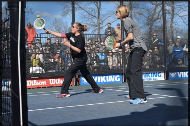 Cynthia Dardis, left, and doubles partner Amy Shay, right, 2016 APTA women's national finalists, are primed for the first APTA Grand Prix of the 2016-17 season Saturday and Sunday at the Patterson Club Open in Fairfield.