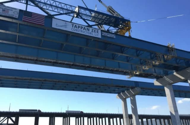 Four employees were stuck under the underside of the Tappan Zee Bridge.