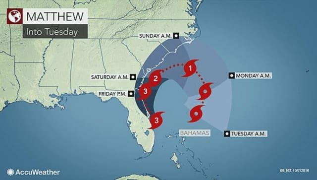 Hurricane Matthew affected Florida, Georgia, South Carolina and North Carolina.