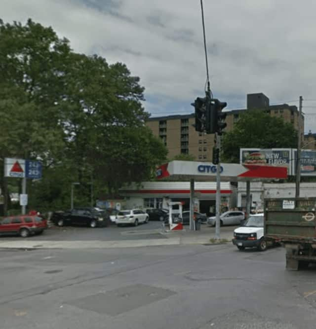 The Citgo Station on Ashburton Avenue in Yonkers was the site of a carjacking early Sunday.